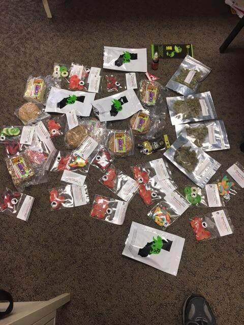 Marijuana & other drugs in bags on floor